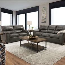 Lane Home Essentials Soft Touch Fog 3 Piece Living Room Set with Sleeper Sofa and Recliner