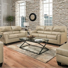 Lane Home Essentials Soft Touch Putty 3 Piece Living Room Set with Sleeper Sofa and Recliner