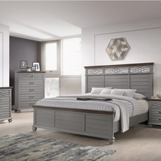 Lane Home Furnishings Bellebrooke 5 Piece King Bedroom Set in Grey