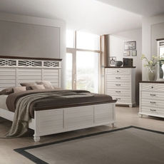 Lane Home Furnishings Bellebrooke 5 Piece King Bedroom Set in White