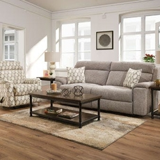 Lane Home Furnishings Extrovert Silver 3 Piece Motion Living Room Set with Recliner