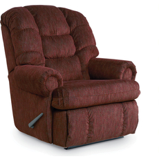 Lane Stallion Comfort King Hide-A-Chaise Wallsaver Recliner in Campaign Brandy