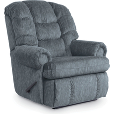 Lane Stallion Comfort King Hide-A-Chaise Wallsaver Recliner in Campaign Glacier