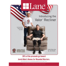 Lane Valor™ Comfort King Recliner supporting Jared Allen's Homes for Wounded Warriors