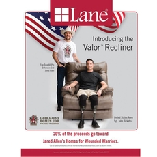 Lane Fastlane Valor™ Comfort King Recliner Supporting Jared Allen's Homes for Wounded Warriors in Dove