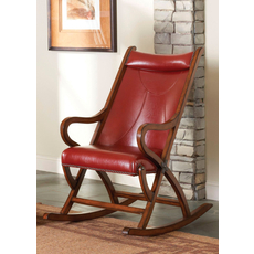 Largo Rocker in Red Leather