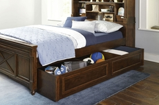 Legacy Classic Kids Big Sur by Wendy Bellissimo Vista Point Full Bookcase Bed with Trundle Storage Drawers