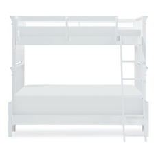 Legacy Classic Kids Canterbury Twin Over Full Bunk Bed in Natural White