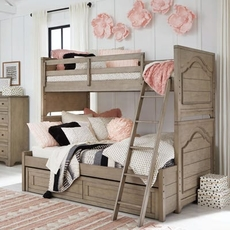 Legacy Classic Kids Farm House Twin Over Full Trundle Bunk Bed