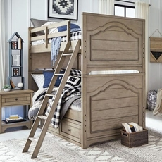 Legacy Classic Kids Farm House Twin Over Twin Storage Bunk Bed