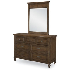 Legacy Classic Kids Lake House Dresser and Mirror in Cabin Brown