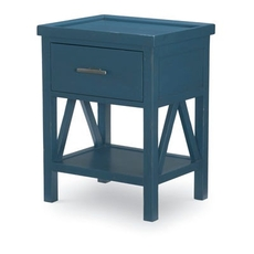 Legacy Classic Kids Lake House Open Nightstand in Denim Blue