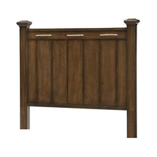 Legacy Classic Kids Lake House Twin Low Post Headboard in Cabin Brown