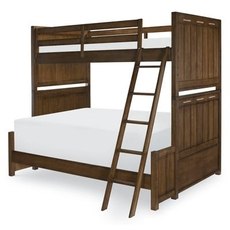 Legacy Classic Kids Lake House Twin Over Full Bunk Bed in Cabin Brown