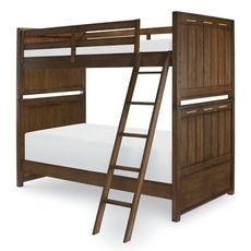 Legacy Classic Kids Lake House Twin Over Twin Bunk Bed in Cabin Brown