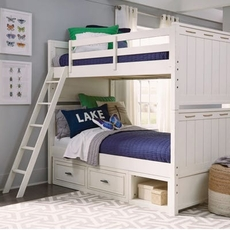 Legacy Classic Kids Lake House Twin Over Twin Storage Bunk Bed