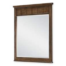Legacy Classic Kids Lake House Vertical Mirror in Cabin Brown