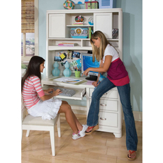 Legacy Classic Kids Park City Desk with Hutch in White