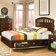 Legacy Classic Kids Park City Platform Bed in Merlot