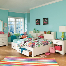 Legacy Classic Kids Park City Study Lounge Bed in White