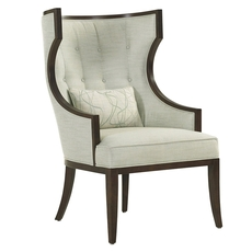 Lexington MacArthur Park Dover Chair in Pale Green and Ivory