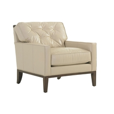 Lexington MacArthur Park Leather Fernhill Chair in Light Gold