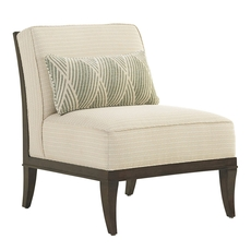 Lexington MacArthur Park Montaigne Armless Chair in Ivory and Gold