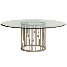 Lexington Shadow Play Rendezvous 60 Inch Glass Top Dining Table