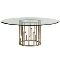 Lexington Shadow Play Rendezvous 72 Inch Glass Top Dining Table