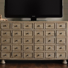 Lexington Twilight Bay Andrews Entertainment Console in Driftwood