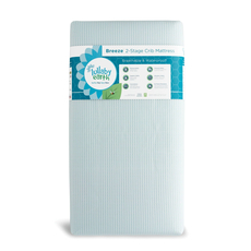Lullaby Earth Breeze Crib Mattress 2-Stage in Blue