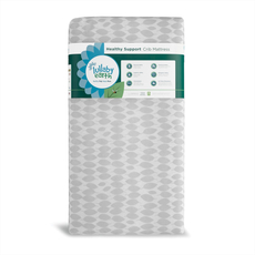 Lullaby Earth Lightweight Healthy Support Crib Mattress in Leaf
