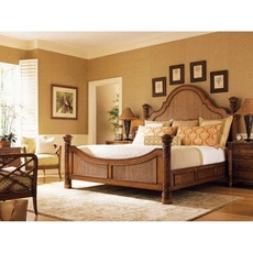 Tommy Bahama Island Estate Round Hill Queen Bedroom Set