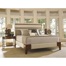 Tommy Bahama Island Fusion Mandarin Upholstered Panel King Bedroom Set
