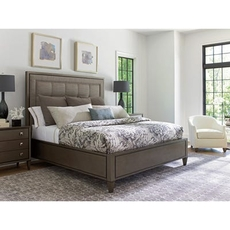 Lexington Ariana St. Tropez Upholstered Cal King Panel Bedroom Set