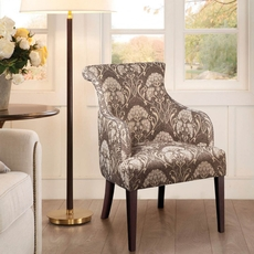 Madison Park Alexis Rollback Accent Chair in Daphine Granite