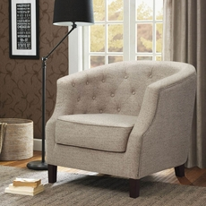 Madison Park Ansley Accent Chair in Trinity Stone