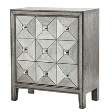 Madison Park Artisan Antiqued Silver Mirror Chest