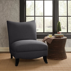 Madison Park Asher Armless Curved Back Chair in Edmund Storm