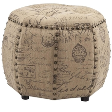 Madison Park Brianna Ottoman in Natural