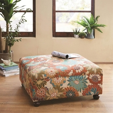 Madison Park Carlyle Cocktail Ottoman in Floral