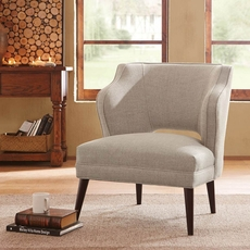 Madison Park Cody Armless Mod Chair in Deauville Hemp