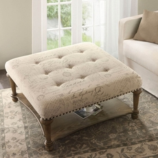 Madison Park Darcy Accent Ottoman in Font