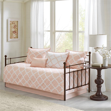 Madison Park Essentials Merritt 6 Piece Reversible Daybed Set in Blush by JLA Home