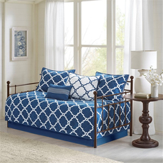 Madison Park Essentials Merritt 6 Piece Reversible Daybed Set in Navy by JLA Home