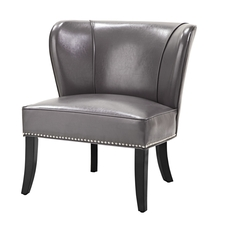 Madison Park Hilton Accent Chair in Grey