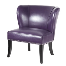 Madison Park Hilton Accent Chair in Purple