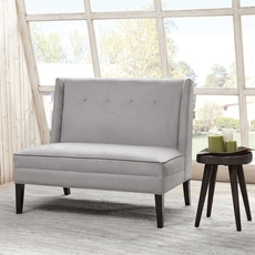 Madison Park Jensen Button Tufted High Back Settee in Avon