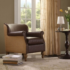 Madison Park Luther Accent Chair in Jute