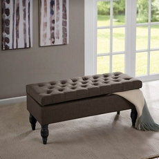 Madison Park Luxe Bench in Roma Granite